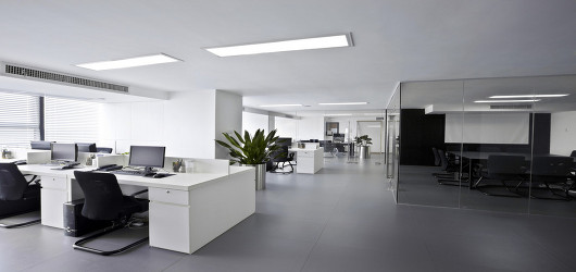 Modern, clean office interior